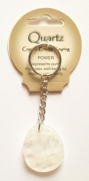Crystal Energy - Quartz - Power - Gemstone Keyring